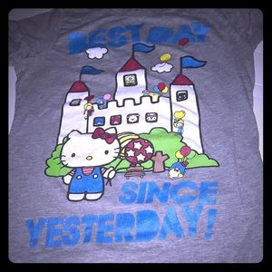 Tops - Best day since yesterday hello kitty large juniors